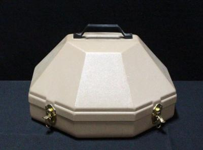"Hard Plastic Hat Box With Handle 17.5""W"