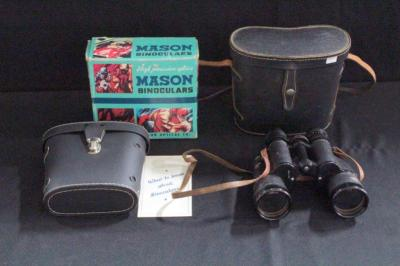 Ranger No 53891 7x50 Binoculars In Case And Mason 7x35 Binoculars In Case And Box