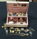 Earrings, Necklaces And More, Rhinestones, Mini Mosaic Brooch, Contents Of Jewelry Box