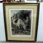 "Gardeners Daughter By Richard Ansdell, Framed, 41""W x 50""H, Title On Back Mislabeled"