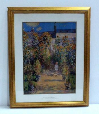 "The Garden At Vetheuil By Claude Monet, Framed, 25.25""W x 31""H"
