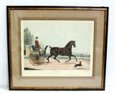 "Artaxerxes, Colored Engraving Print, Originally Engraved By R.G. Reeve And Painted By F.C. Turner, Hand Printed Restrike, Framed 33""W x 28.5""H"
