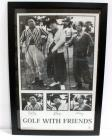 "The Three Stooges, Golf With Friends, Curly, Moe, Larry Poster, Framed 27""W x 38.75""H"