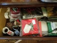 Placemats, Table Cloths, Napkin Holders, And More, Contents Of Buffet Drawers