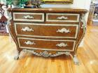 "Ornate Claw Footed, Imperial Style Bachelor's Chest With 4 Drawers And Scallop Accents, 37"" x 48"" x 24"""