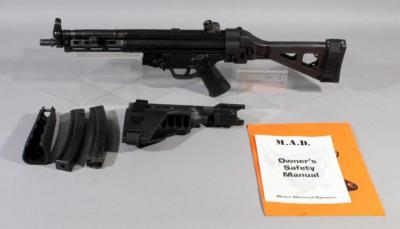 Moore Advanced Dynamics MP 5 9mm SN# 900039 With 9mm x 19 Mags (2), Sig Tac Pistol Brace, Foregrip And Paperwork