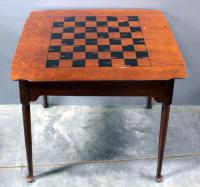 "Wood Game Table, Reversible Top Has Checker/Chess Board on Underside, Remove Top for Backgammon Board, Includes Game Pieces 30.5""W x 30.5""H x 25""D"