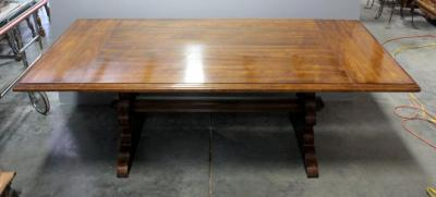 "Large Dining Table With 2 Leaves, Moulded Edges And Table Pad 44""W x 29""H x 83""L Without Leaves"