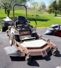 "Grasshopper Model 725DT6 Diesel powered, zero turn Mower With 61"" power fold dura max 61 deck, SN# 6210611, 33 Total Hours, Includes Black Hawk 7 cu Ft Utility Cart And Snow Blade, SEE VIDEO"