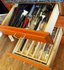 Cooking utensils, Serving Utensils, Spatulas, Tongs, Ladles, Slotted Spoons And More Contents Of 2 Drawers