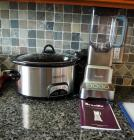 4 Qt Programmable Crock Pot And Breville Hemisphere Pro Blender Both With Manual