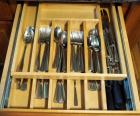 Wallace Stainless Steel Flatware Set, Steak Knives And More, Contents Of Drawer