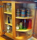 Drinking Glasses, Bar Glasses, Juice Jars And More, Contents Of 2 Cabinets