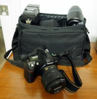 Nikon Digital Camera Model D70, With 67mm ANd 300mm Lenses, Speedlight SB600, Lense Filters,Battery Charger And Nylon Carrying Case