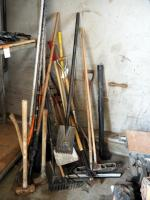 Roofing Hand Tools, Including Flat Tip Shovels, Potato Forks, Brooms And More