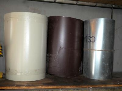 Aluminium And Vinyl Flashing, Qty 3 Partial Rolls, Unknown Lengths