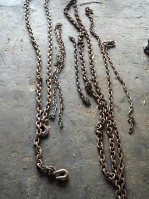 Tow Chains, Assorted Lengths And Sizes, Qty 6