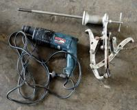Bosch Electric Hammer Drill Model #GBH2-20SE And Triple Arm Flywheel Puller