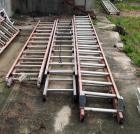 Louisville Fiberglass Extension Ladders,  One - 16 ft and Two - 14 ft, Total Qty 3