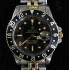Rolex Oyster Perpetual GMT-Master Rolex Black Bezel Men's Watch, Stainless Steel With 14K Gold Accents, SN# 5748585