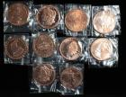 1 Oz .999 Pure Copper Coins, Total Qty 10