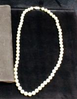 "18"" Cultured Pearl Necklace With 14K Gold Clasp In Krigel's Folder"