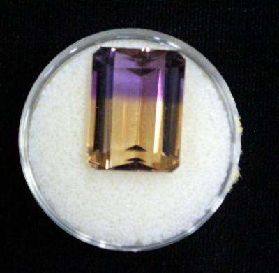 Ametrine Faceted Gemstone, 12 Cts. 16 x 12