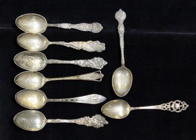 Sterling Silver Collectors Spoons, Qty 8
