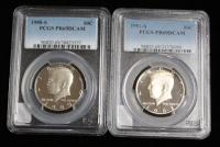 1982-S PCGS PR69DCAM And 1980-S PCGS PR69DCAM Kennedy Half Dollars, Total Qty 2