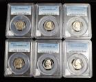 1973-S PCGS PR69DCAM And 1974-S PCGS PR69DCAM Jefferson Nickles, Total Qty 6