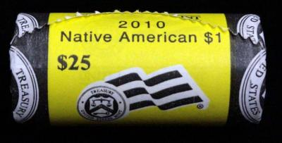 Mint Rolled Sacagawea 2010-P Dollar Coins