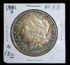 1881-O Morgan Silver Dollar With Rainbow Toning