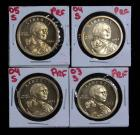Sacagawea Gold Tone Dollar Proofs, Total Qty 4