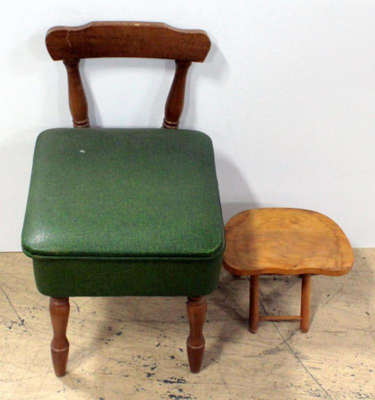 Admirable Sewing Chair With Padded Seat That Opens To Storage Area Onthecornerstone Fun Painted Chair Ideas Images Onthecornerstoneorg