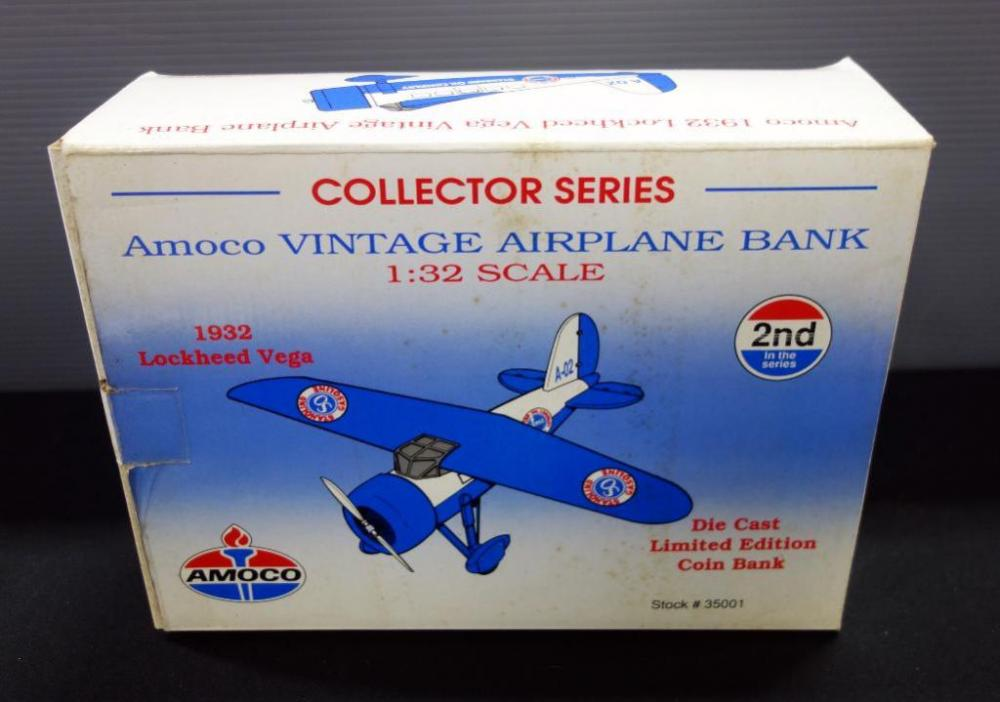 Amoco 1932 Lockheed Vega Vintage Airplane Bank Die Cast