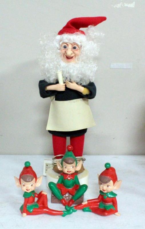 2ec5686ae8a98 Lot 487 of 525  Ceramic Christmas Elves 5.5