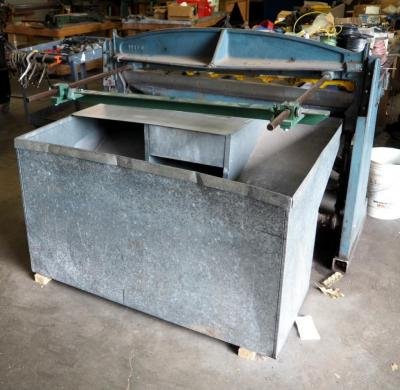 Roper Whitney Co, Foot Squaring Shear Pexto #152, Customized With Hydraulic Motor Includes Scrap Metal Bin, Bidder Responsible For Proper Removal