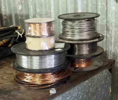 Mig Solid Welding Wire Assorted Types, 4 Partial Spools And 2 Full Spools