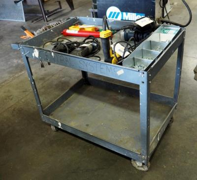 "Metal Rolling Cart, 32"" x 40"" x 25"", Contents Not Included"