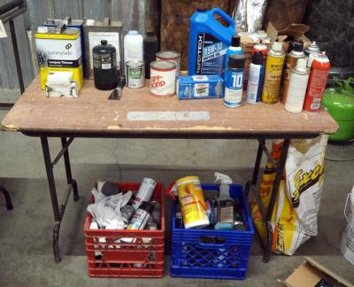 Spray Paint, Paint Thinner, Motor Oil, Lubricant, Solvants, Lacquer Thinner And More, Contents of Table