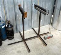 Custom Made Adjustable Material Handling Stands, Qty 3