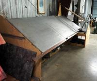"Custom Made Raw Material Drafting Table, 74"" x 139"" x 60"", Bidder Responsible For Proper Removal"