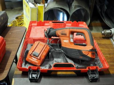 Hilti Model #WSR36-A Cordless, Reciprocating Saw, 36 Volt Lithium Battery Battery Charger, User Manual And Molded Plastic Carrying Case