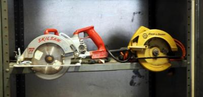 "7.25"" Worm Drive Electric Skilsaw And Black & Decker Circular Saw"