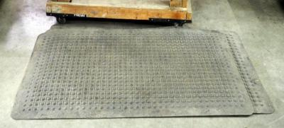 "Rubber Fatigue Floor Mats, 56"" x 34"" , Qty 4"