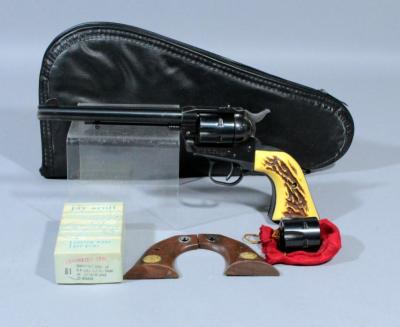 Ruger Single 6 Single Action Revolver, 22/22WM, SN# 354475, Includes 2 Cylinders and Extra Grips in Soft Case