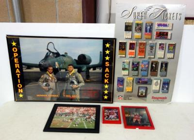 Photographs of KC Chiefs Sacking Raiders QB, K.C. Wolf, Derrick Thomas and Neil Smith Operation Sack Poster and More