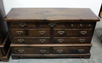 "Bennington Pine 9 Drawer Dresser On Casters With Dovetail Construction, 60""W x 35""H x 20""D, Matches Lot 59"