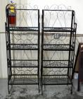 "Matching Metal Baker's Racks with 4 Shelves Each, Collapsible, 68""H x 24""W x 15""D, Qty 2"
