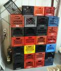 Plastic Milk Crate Assortment, Qty Approximately 50
